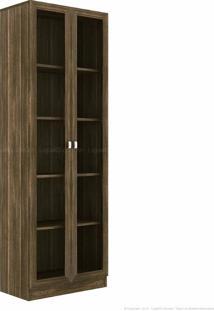 Estante Livreiro Com 2 Portas Com Vidro Sitin Nogal - Casabras