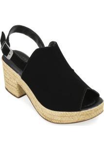 Sandália Ankle Boot Yellow Feminina - Feminino-Preto