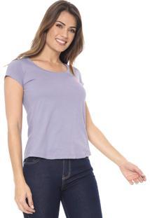 Camiseta Polo Wear Logo Lilás