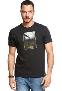 433d927355 ... Camiseta Slim Fit Manga Curta Vlcs 18585 Preto