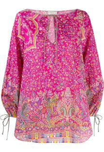 Etro All-Over Print Blouse - Rosa