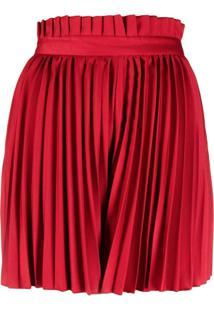 Atu Body Couture Bermuda Com Pregas - Vermelho