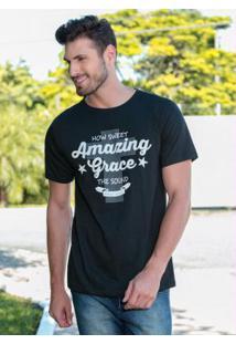 Camiseta Masculina Pretacom Estampa De Lettering