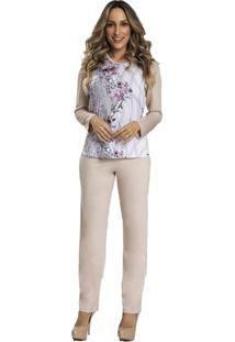 Pijama Recco Longo Supermicro C/Viscose Azul - Kanui