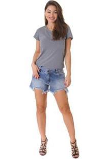 Shorts Jeans Opera Rock Feminino - Feminino