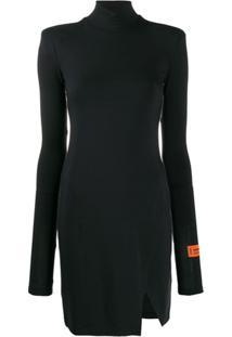Heron Preston Vestido Decote Arredondado - Preto