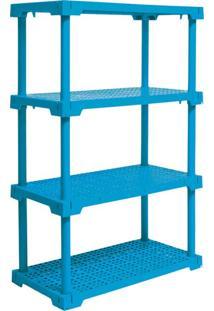 Estante Cube Com 4 Prateleiras Azul