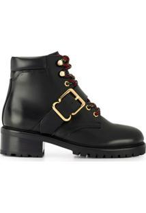 Sandro Paris Ankle Boot Com Detalhe De Fivela - Preto