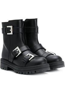 Mi Mi Sol Ankle Boot Com Fivela - Preto