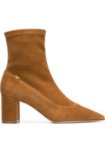Tory Burch Pointed Ankle Boots - Marrom