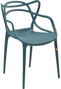 Cadeira Pp Allegra -Rivatti - Verde Petroleo