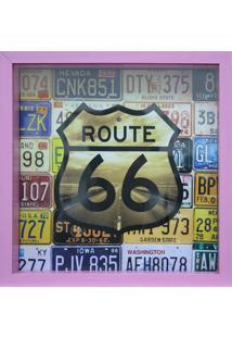 Quadro Porta Tickets Route 66-Kapos - Lilás