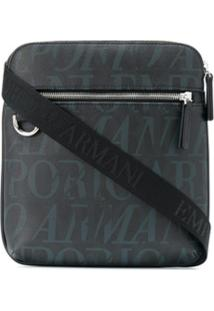 Emporio Armani Logo Cross Body Bag - Preto