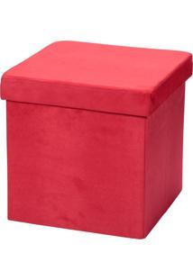 Puff Lyam Decor Desmontável Vermelho