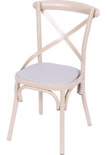 Cadeira Katrina Metal Cor Amadeirado - 39275 - Sun House