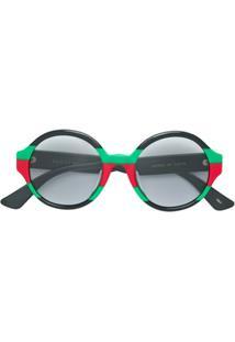 Gucci Eyewear Óculos De Sol Redondo - Preto