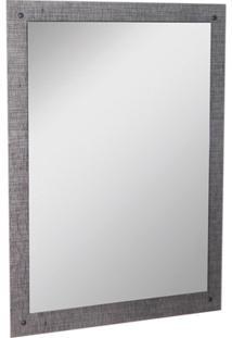 Espelho De Parede Em Mdf Munique 83X60Cm Cromo