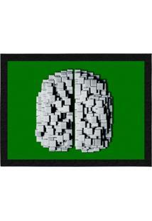 Capacho - Tapete Colours Creative Photo Decor - Cérebro De Pastilhas Verde