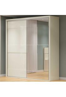 Guarda-Roupa Casal 2 Portas 2 Gavetas 100% Mdf Tw202E Off White - Dalla Costa