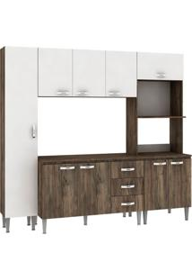 Cozinha Compacta Master 9 Pt 3 Gv Naturalle Com Branco