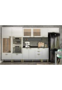 Cozinha Completa 10 Peã§As Americana Multimã³Veis 5652Mf Branco/Grafite - Branco/Incolor - Dafiti