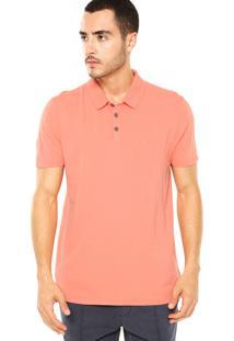 Camisa Polo Calvin Klein Jeans Botões Coral