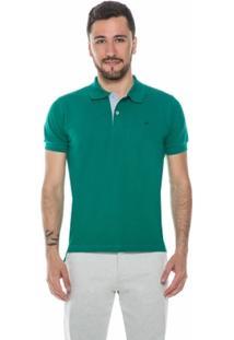 Camisa Polo Básica Verde - Masculino