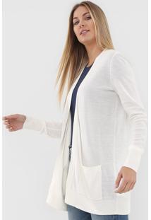 Maxi Cardigan Gap Tricot Bolsos Off-White