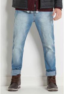 Calça Jeans Claro Com Bolsos Actual