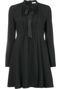 Redvalentino Vestido Com Laço - Preto