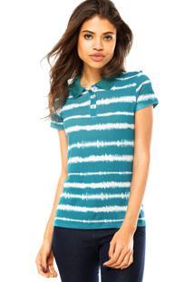 57cdb83c59 ... Camisa Polo Manga Curta Cativa Estampada Verde