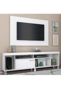 Rack Com Painel Para Tv 1 Porta Tomaz 702002 Branco - Madetec