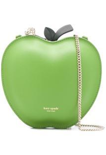 Kate Spade Bolsa Transversal Picnic Apple Com Estampa De Logo - Verde