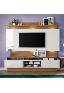 Painel Para Tv Tb113L Com Led Off White/Freijo - Dalla Costa