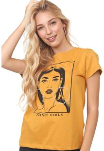 Camiseta Planet Girls Estampada Amarela