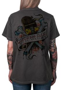Camiseta Artseries Skate Or Die Grafite