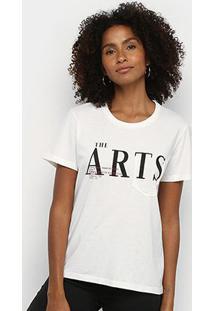 Camiseta Forum The Arts Feminina - Feminino-Areia