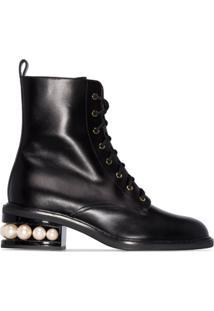 Nicholas Kirkwood Casati Pearl Detail Boots - Preto