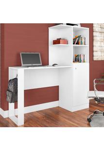 Mesa Para Escritório 1 Porta Califórnia Branco - Art In Móveis