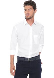 Camisa Dudalina Reta Logo Branca