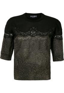 Dolce & Gabbana Blusa De Tricô Com Renda - S9000