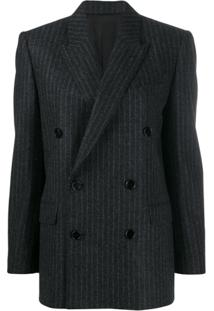 Celine Eyewear Boxy Double-Breasted Jacket - Cinza