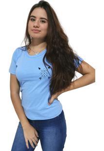 Camiseta Feminina Cellos Cross Arrows Premium Azul Claro - Kanui