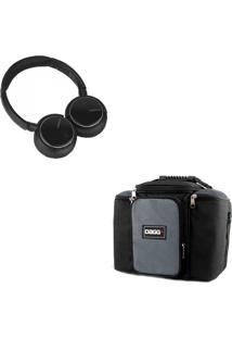 Kit Bolsa Térmica Dagg Fitness Cinza G Headphone Bluetooth Msx
