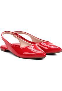 Sapatilha Moleca Slingback Feminina - Feminino-Vermelho