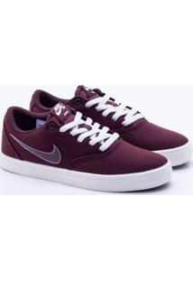 a76b5ea1b82 Gaston. Tênis Nike Sb Check Ss Cn Bordô Feminino 38