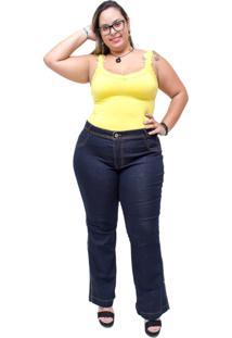 Calça Jeans Credencial Flare Emillye Azul - Kanui