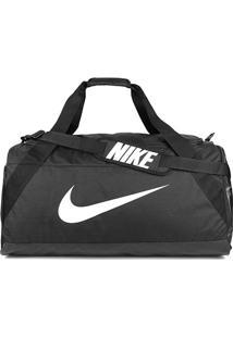 Mala Nike Brasilia Xl Duff - Unissex-Preto+Branco