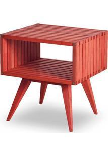 Mesa Apoio Dominoes Estrutura Vermelha 22Cm - 61478 - Sun House