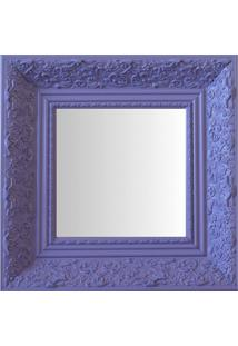 Espelho Moldura Rococó Fundo 16442 Lilás Art Shop